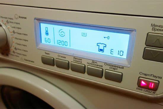 Ошибка E10 в стиральной машине Electrolux