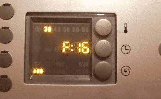 Ошибка F16 в стиральной машине Бош