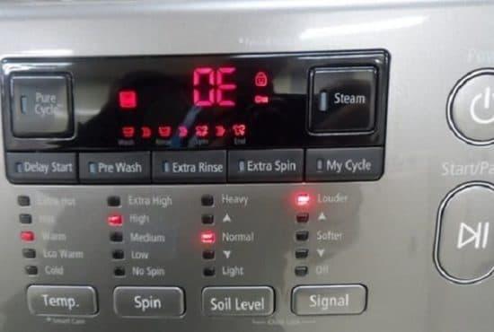 9 причин ошибки ОЕ в стиральной машине LG